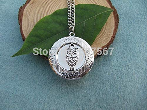 Cute owl Locket, Silver Locket,Gift for Mom, Wife, Sister, Daughter, Graduation, Unique Locket Gift Idea