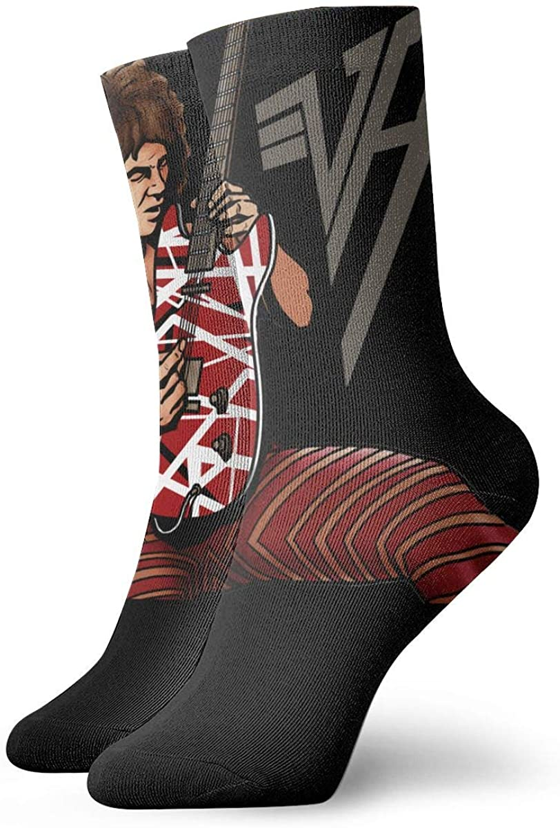 How To Draw Eddie Van Halen Stylish Patterned Short Socks, Comfortable, Breathable, Light And Casual Funny Novelty
