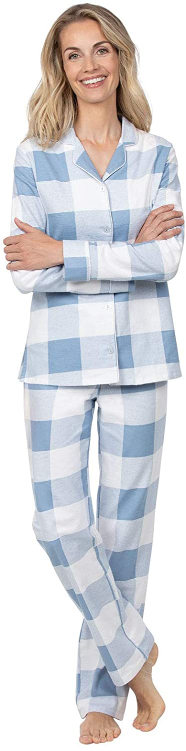 Addison Meadow Women Pajamas Set - Women's Pajamas, Flannel Button-Front
