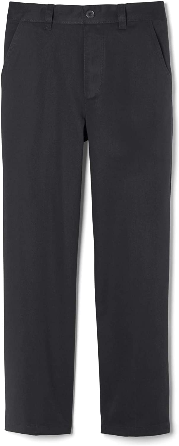 French Toast Little Boys' Pleated Wrinkle No More Relaxed Fit Pants-gray