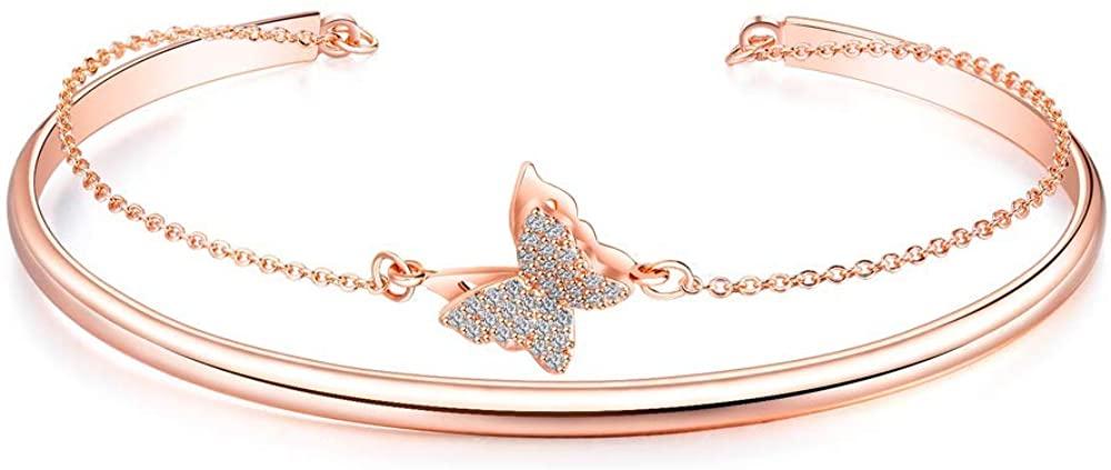 Loxoto Inspirational Bangle Bracelets for Women Personalized Mantra Cuff Bangle Dainty Handmade Gift Jewelry Bracelets