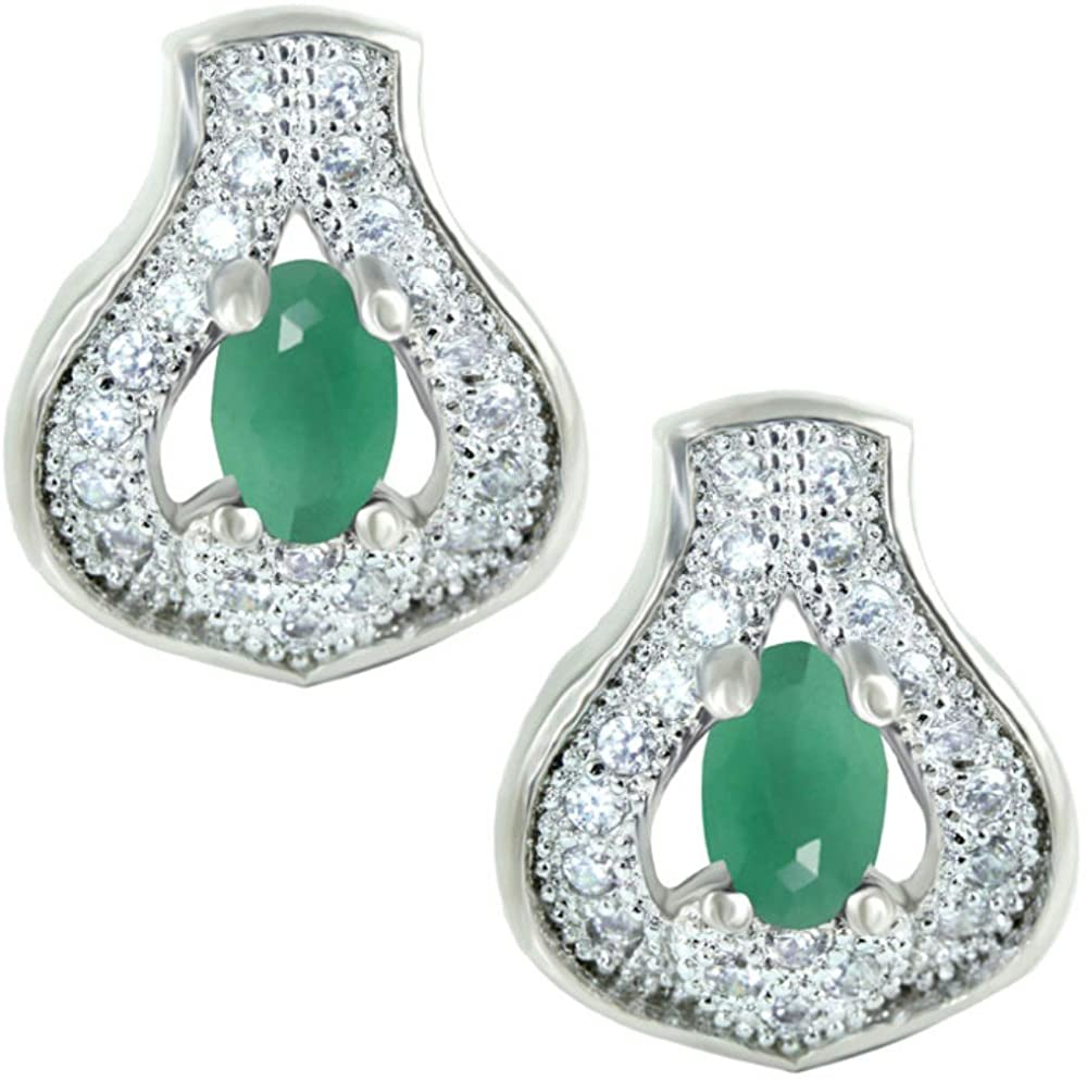 SuperShineGems Emarald Colour Stone~For Women Fashion Earring Cz Cubic Zirconia Stones Earring