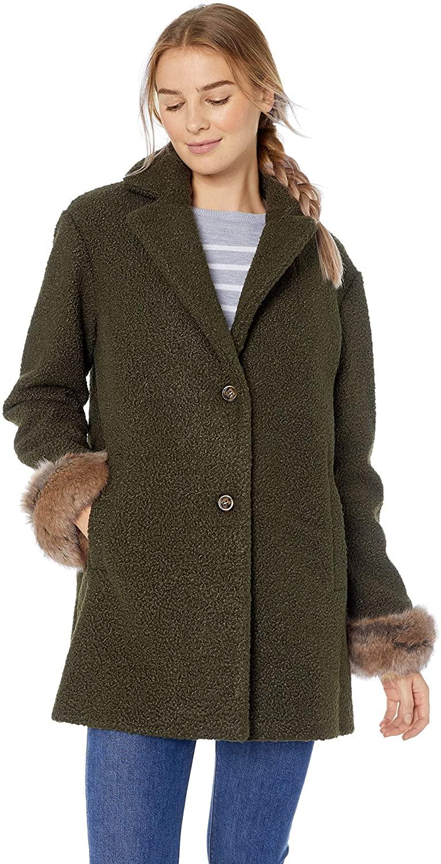 ELLEN TRACY Women's Button Up Jacket, Olive, XL