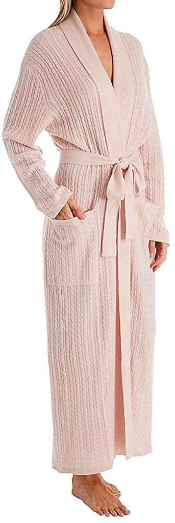 Arlotta Women's Long Baby Cable Texture Wrap Robe 2020