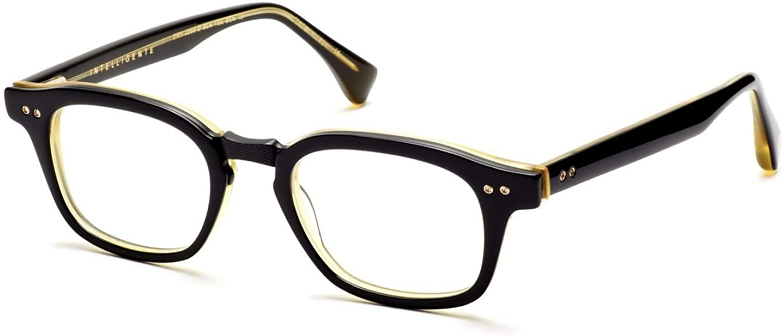 Dita Intelligente DRX-2050-D-BLK-YEL-BLK-48 Eyegalsses Black-Vintage Yellow Back - Matte Black 48mm