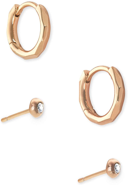 Kendra Scott Addison Huggie & Stud Earrings Set for Women, Fashion Jewelry