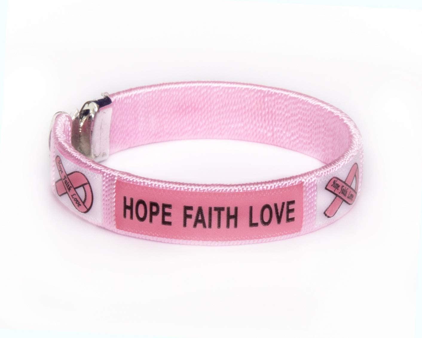 Fundraising For A Cause   Breast Cancer Awareness Bangle Bracelets - Pink Ribbon Bangle Bracelets for Breast Cancer Awareness Fundraisers (25 Bracelets)