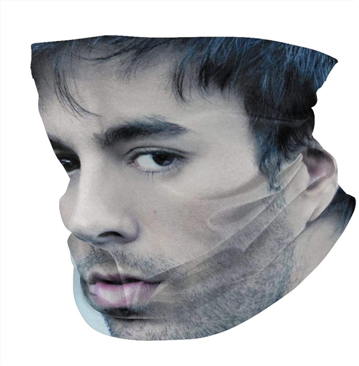 Enrique Iglesias Lightweight Breathable Face Mask Scarf Mask Dustproof Windproof Outdoor Activities Sports Neck Scarf