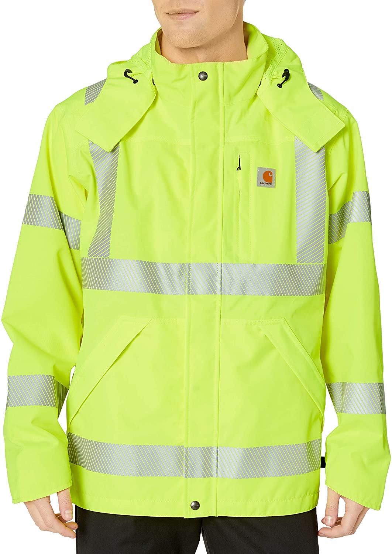 Carhartt Men's High Visibility Class 3 Waterproof Jacket