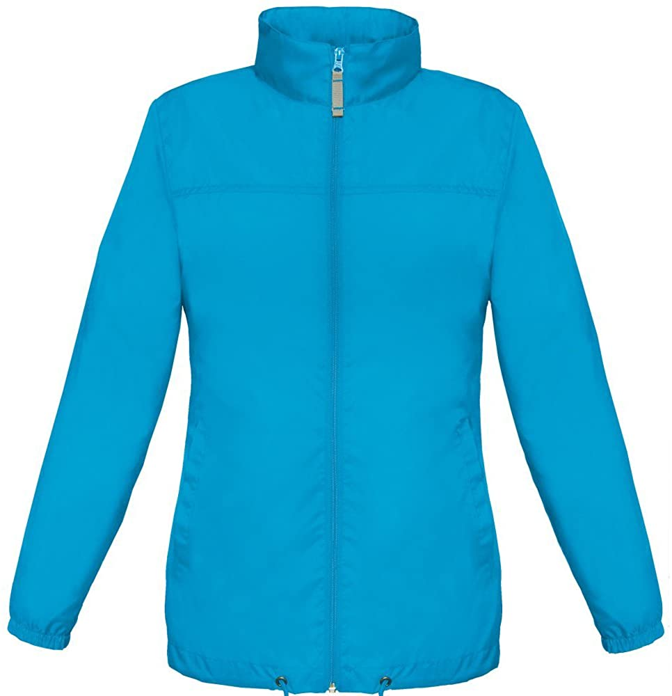 B&C Women's Sirocco Waterproof Windproof Jacket Rain Coat