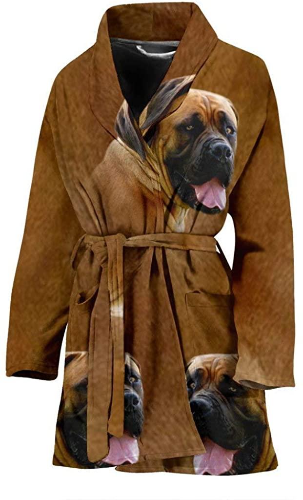 Great Breed Store Amazing South African Boerboel Dog Print Women's Bath Robe