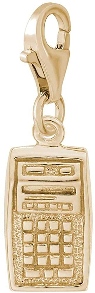 Rembrandt Charms Calculator Charm with Lobster Clasp, 10K Yellow Gold