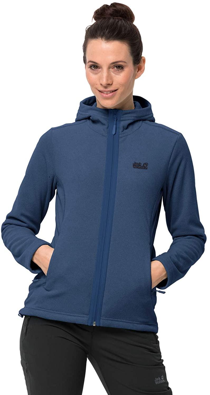 Jack Wolfskin Women's Skywind Hooded Jacket W, Porcelain Blue, L