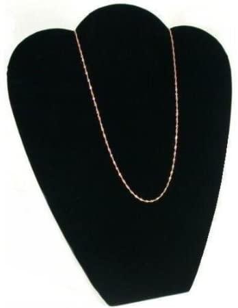 FindingKing 2 Black Velvet Padded Necklace Pendant Bust Showcase Displays 10 7/8