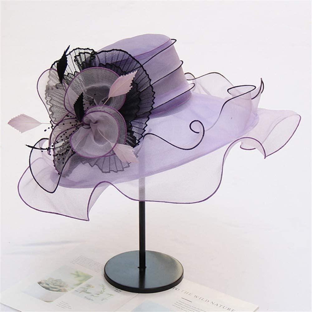 XinQuan Wang Hat Female Korean Organza Chiffon Breathable Sun hat Sun hat Summer Beach hat Sun Flowers Thin Section
