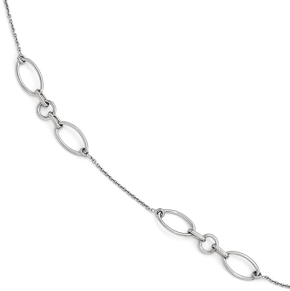 Jewelry Anklets with Stations Leslie's Sterling Silver Fancy Link Anklet 9 with 1in extention