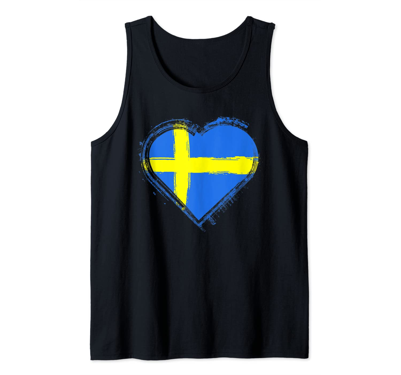 Sweden Flag Shirt Swedish Flag Tank Top