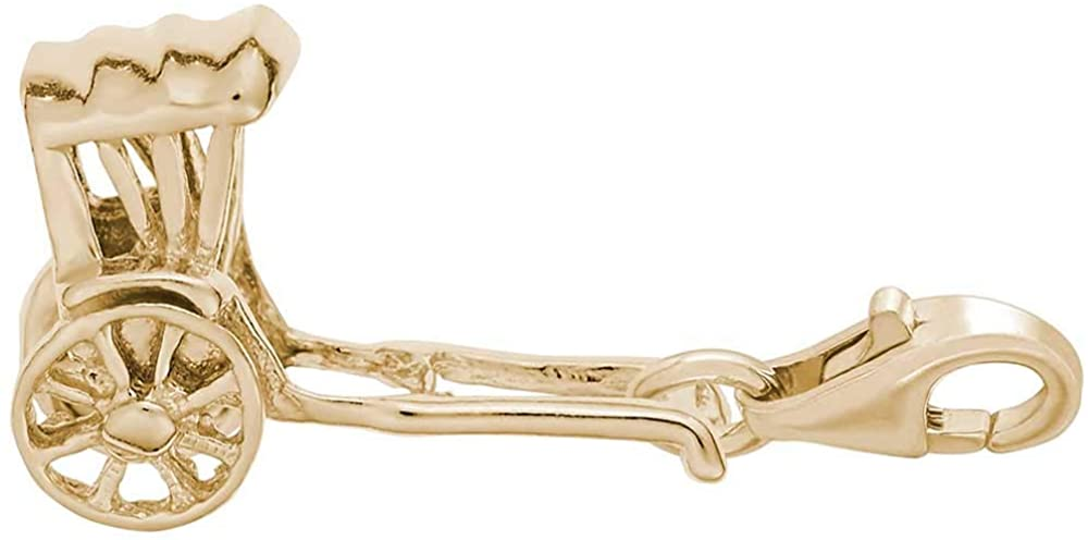 Rembrandt Charms Rickshaw Charm with Lobster Clasp, 10K Yellow Gold
