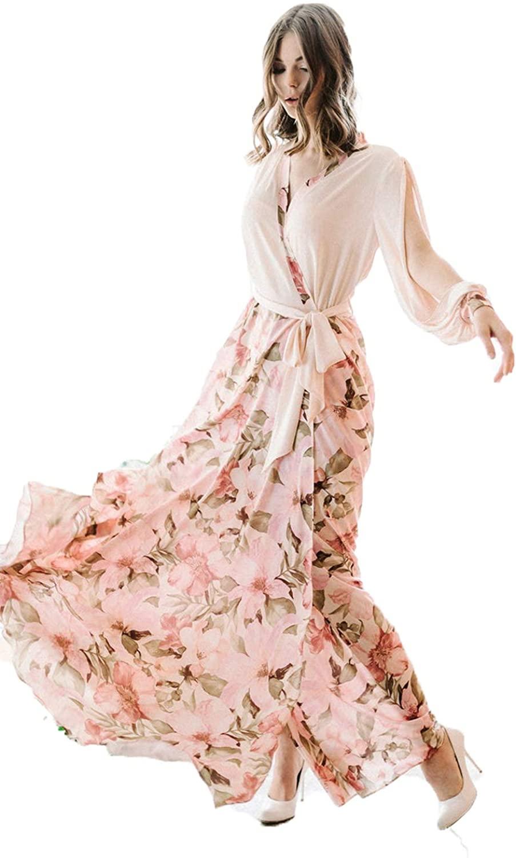 BathGown Women's Luxury Satin Robe Wedding Robe with Silk Lace Kimono Lingerie