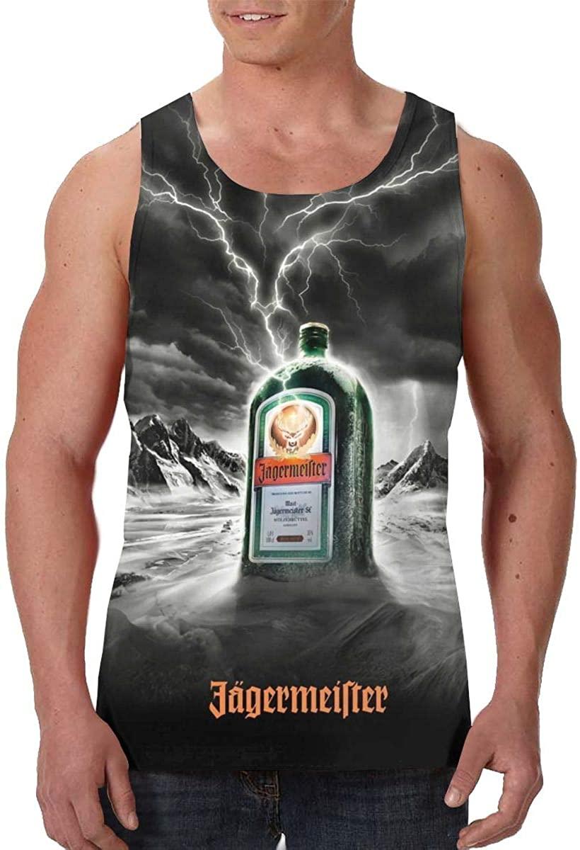 KisdFinda Jagermeister Men's Casual 3D Printed Tank Sleeveless Vest T-Shirt