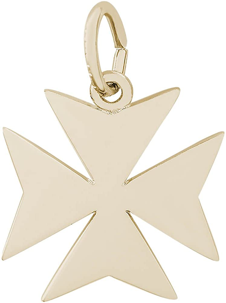 Rembrandt Charms 14K Yellow Gold Maltese Cross Charm (11 x 13 mm)
