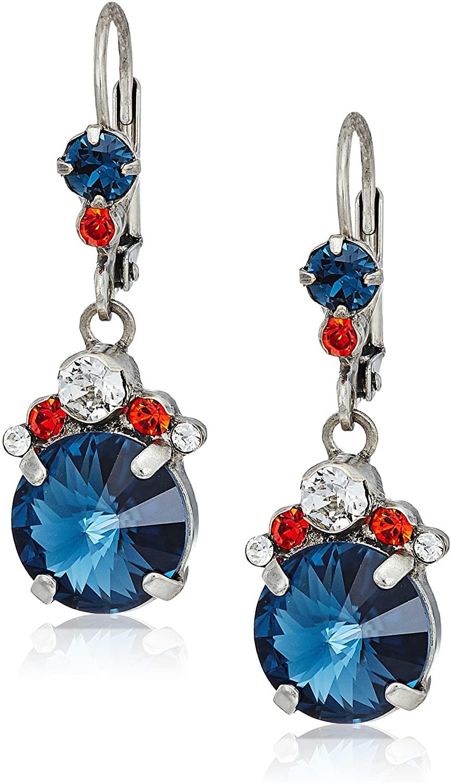 sorrelli battle blue crowning around drop earrings
