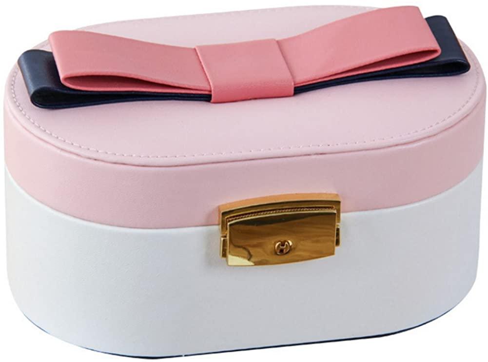 Helen de Lete Lovely Bow PU Jewelry Box-Pink