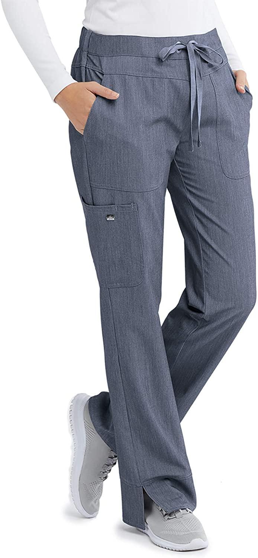BARCO Grey's Anatomy Signature 2207 Women's Three-Pocket Low-Rise Scrub Pant Denim Shade LP