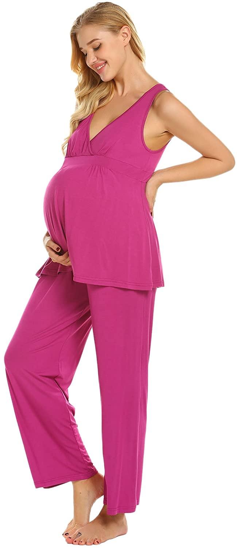 Ekouaer Womens Sexy Cotton Nightgown Short Lace Chemise Sleepwear Sleepshirts ,Purple,Small