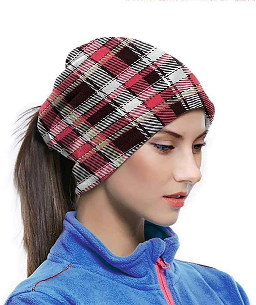 Head Wrap Checkered, Striped Old Fashioned Outdoor Face cover A Cooling Effect in The Wind 10 x 11.6 Inch