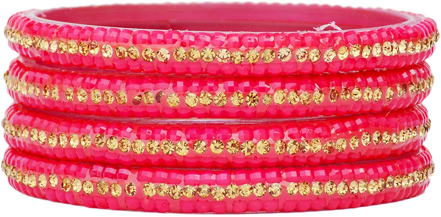 JD'Z COLLECTION Indian Glass Bangles Set Bollywood Bridal Glass Bangles Ethnic