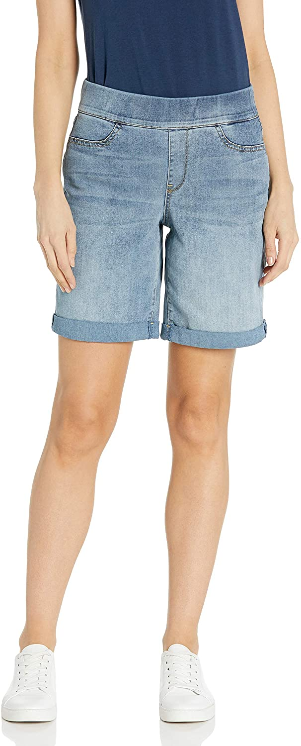 NYDJ Women's Pull-on Shorts with Roll Cuff