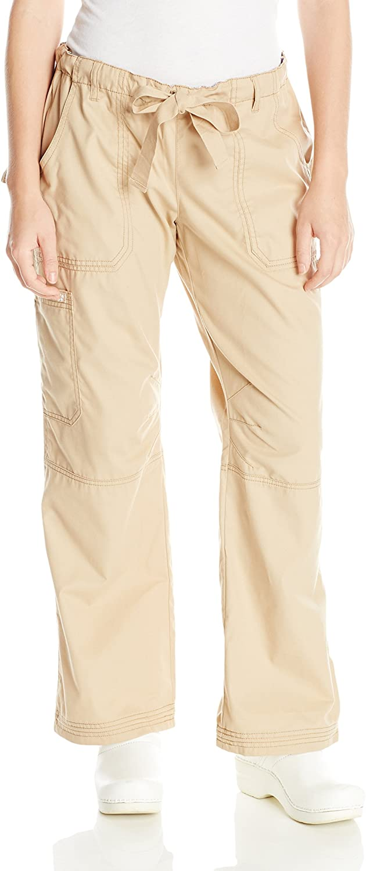 KOI Women's Lindsey Ultra Comfortable Cargo Style Scrub Pants Sizes, Camel, Small/Petite