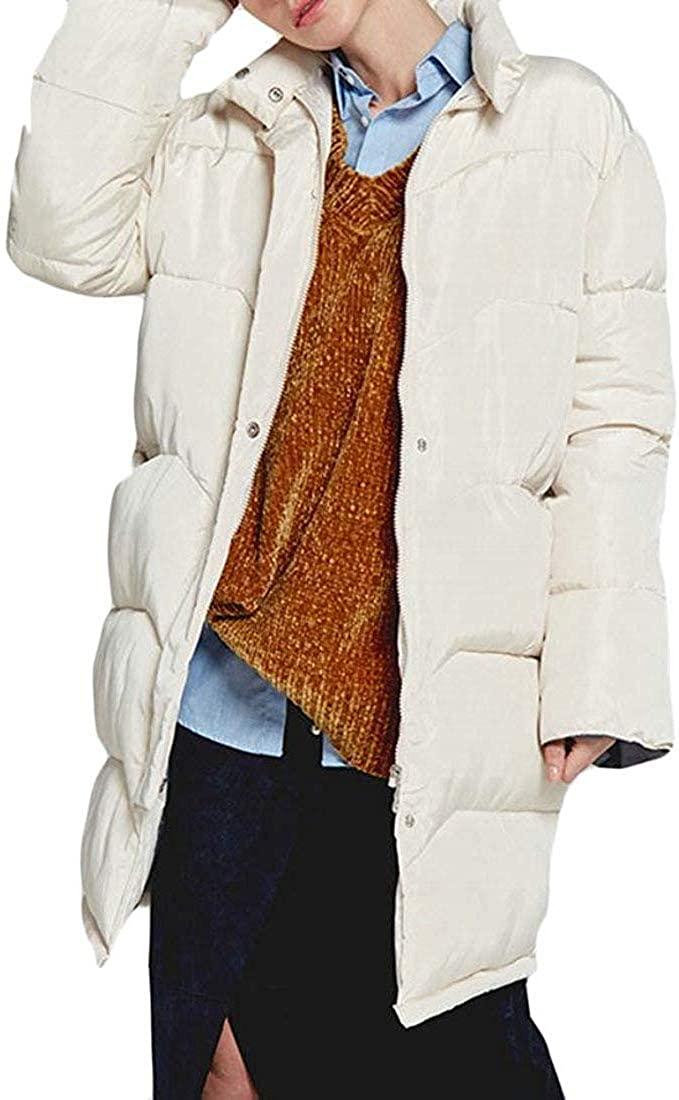 Zeious Women Thicken Packable Quilting Puffer Parkas Coat
