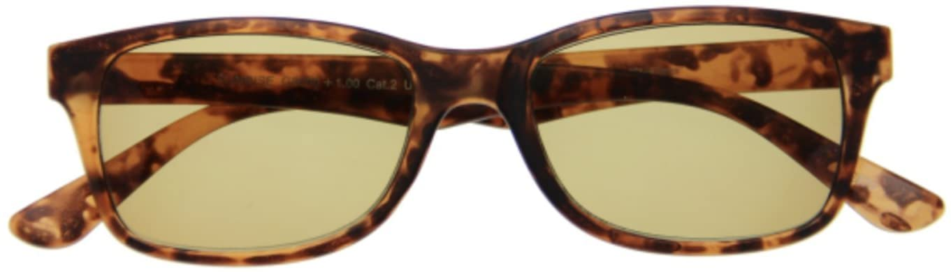 I Need You Reading Bifocal Sunglasses Havana Classic Sunrise Designer UV Protection for Outdoor, Party +2.5