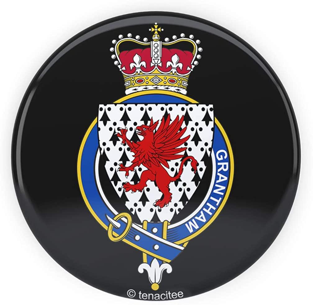 Tenacitee English Garter Family Grantham Pinback Button