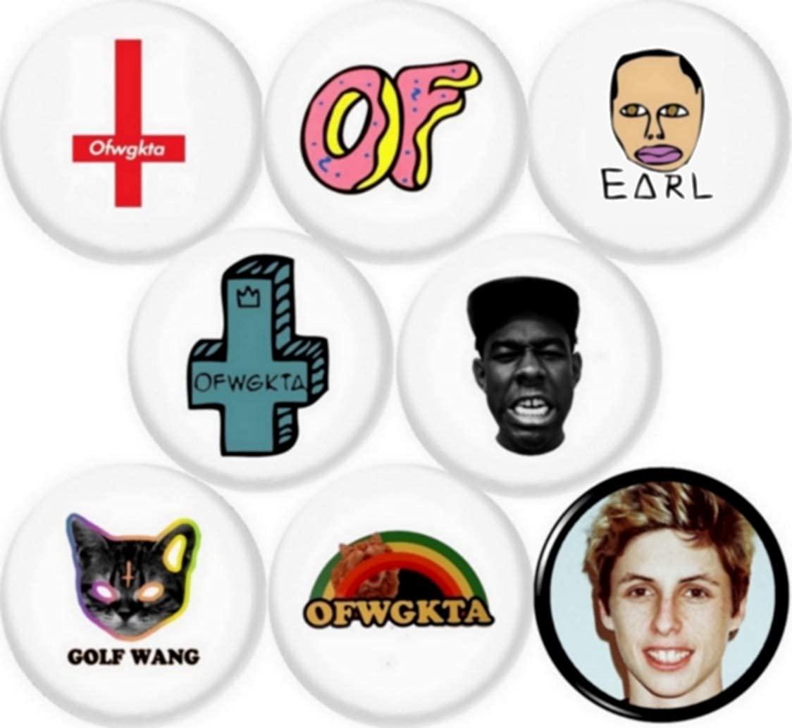 OFWGKTA Tyler The Creator Button pin Set of 8 1