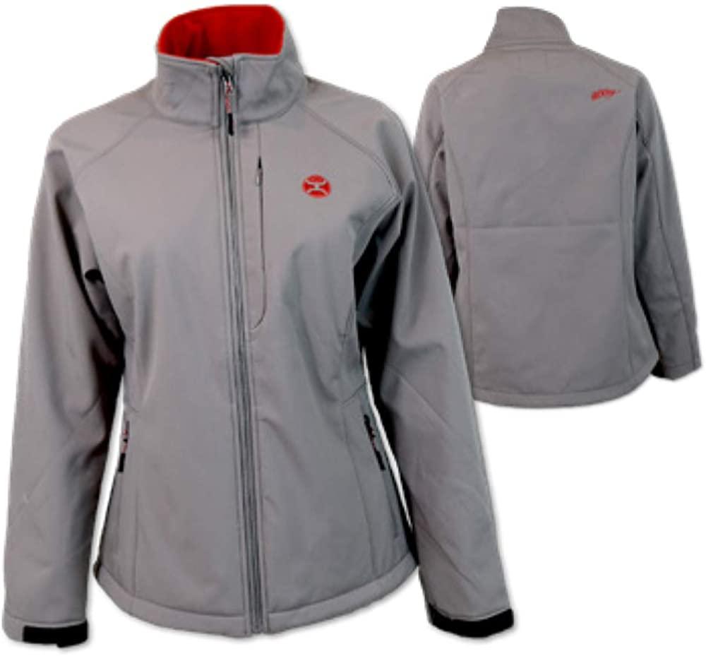 HOOEY Women's Softshell Trim Jacket Grey Large