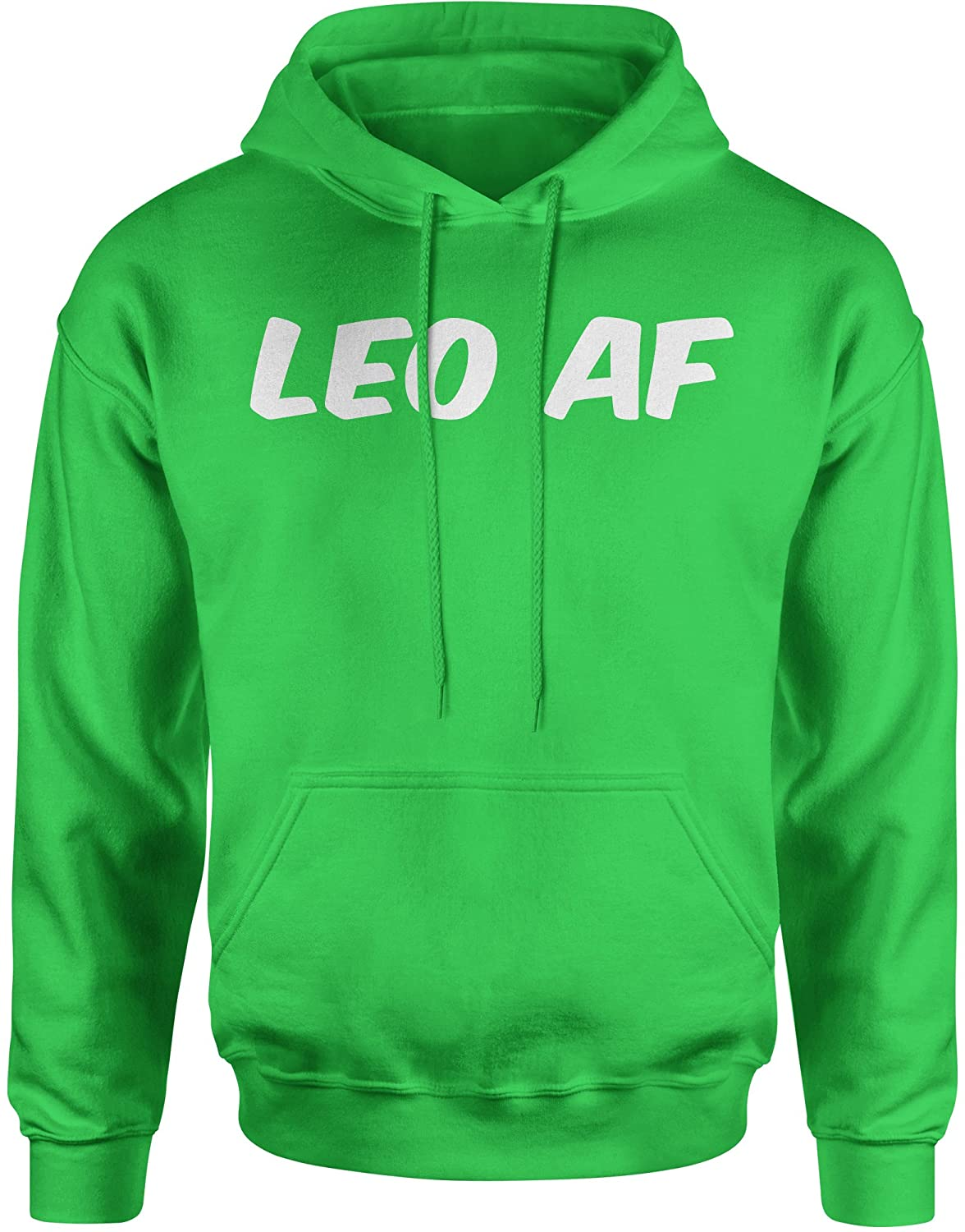 Expression Tees Leo AF As F-ck Zodiac Unisex Adult Hoodie