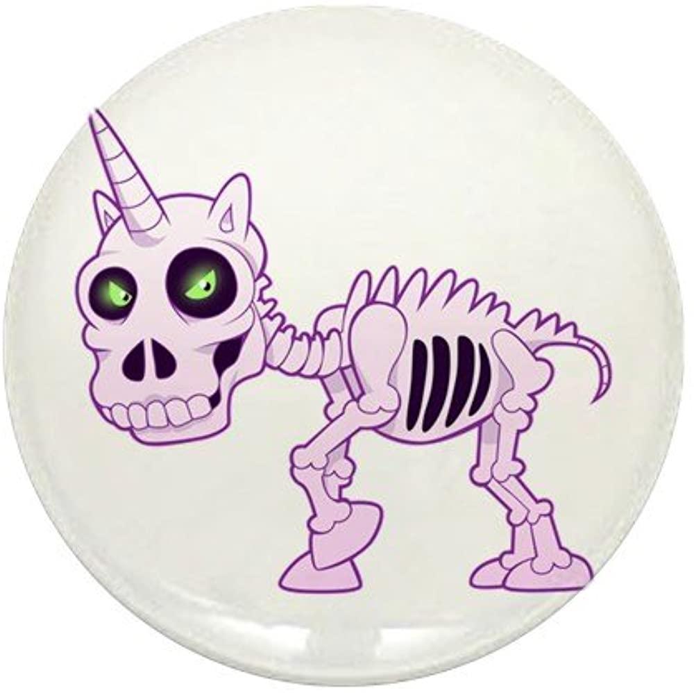 Mini Button Pink Unicorn Skeleton
