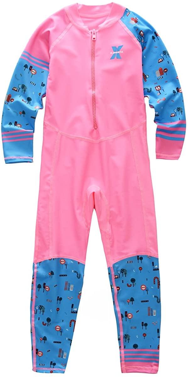 M2C X-Manta Boys Girls Full Body Swimwear UPF 50+ UV Sun Protective One-Piece