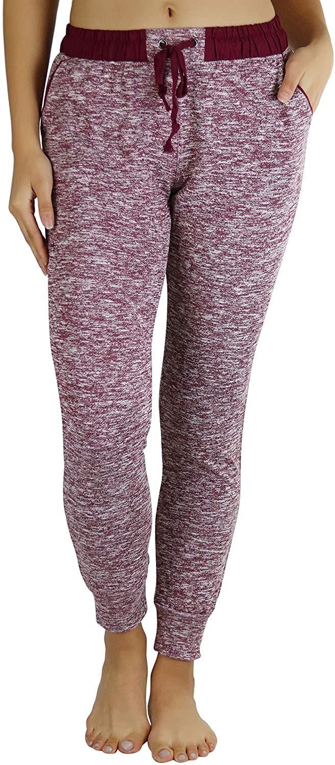 ToBeInStyle Women's Relaxing Heathered French Terry Cozy Jogger Pants