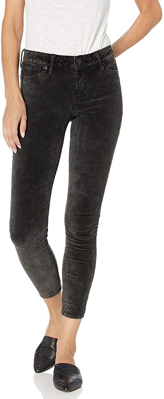 Lucky Brand Women's Mid Rise Ava Super Skinny Velvet Jean in Parkman