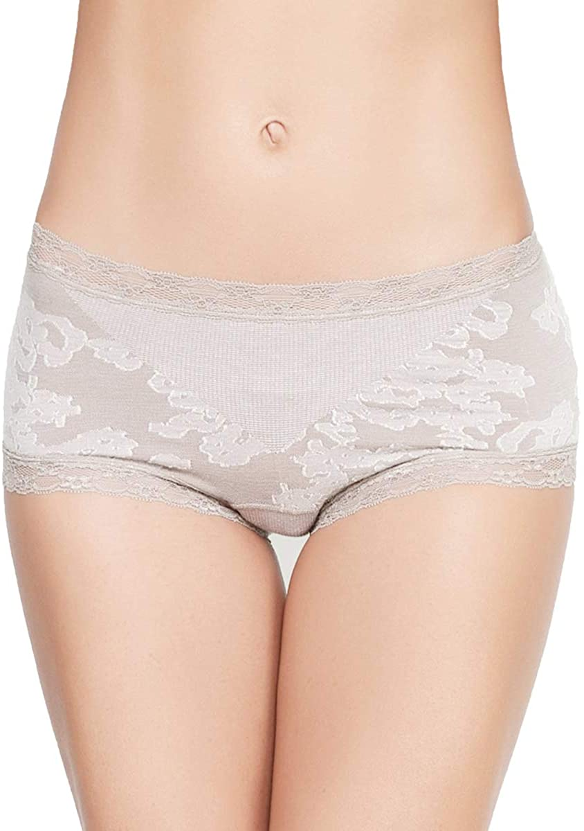 Eve's temptation Cathy Boyshort Panites Seamless Cotton Underwear Sexy Lingerie for Women, Nude, X-Large
