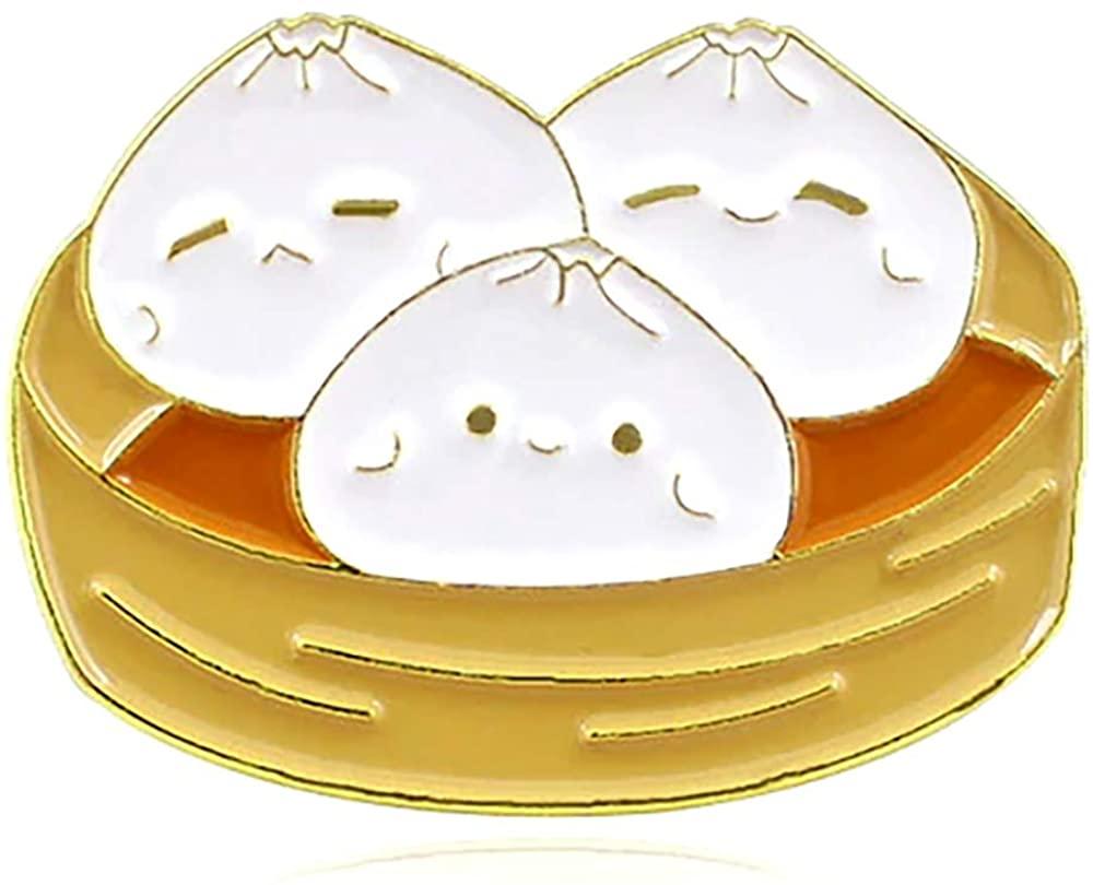 Kawaii Steamed Dumplings Enamel PIn