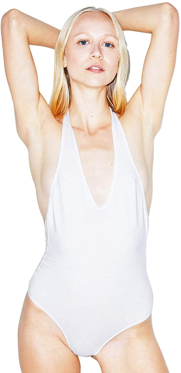 American Apparel Women's Cotton Spandex Halter Bodysuit