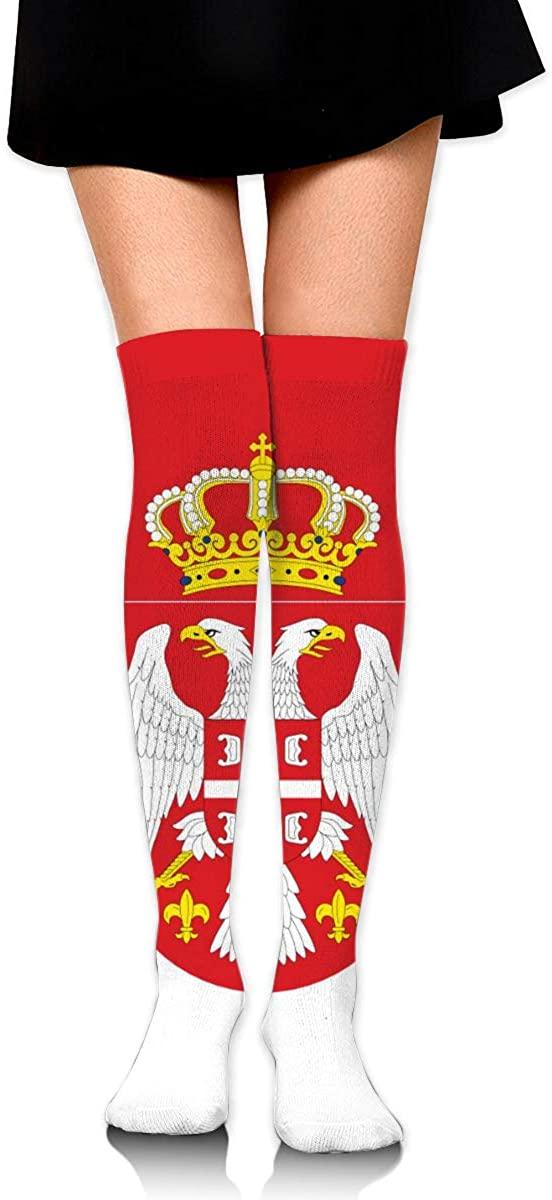 Game Life High Socks Wave Serbian Flag Sport Socks Crew Socks