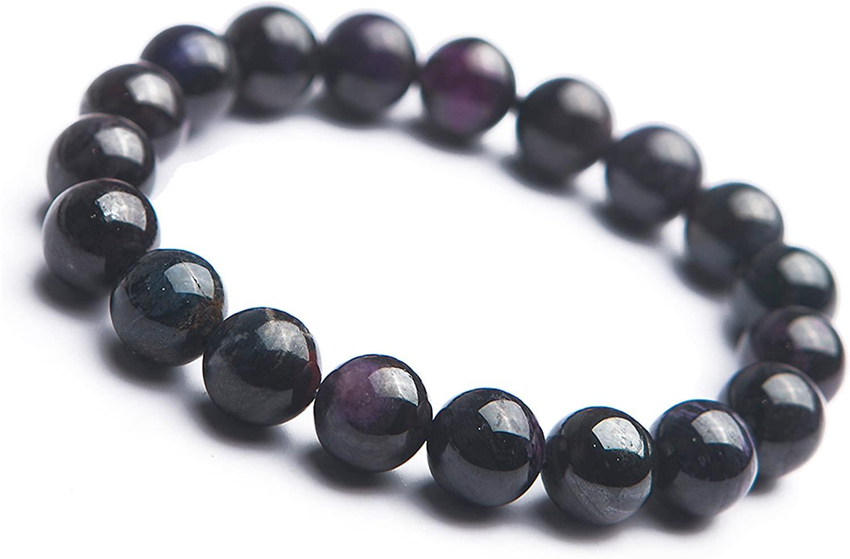 10.5mm Natural Sugilite Gemstone Purple Crystal Stretch Round Bead Bracelet