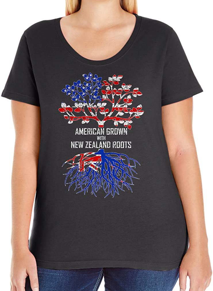 Tenacitee Women's American Grown with New Zealand Roots T-Shirt