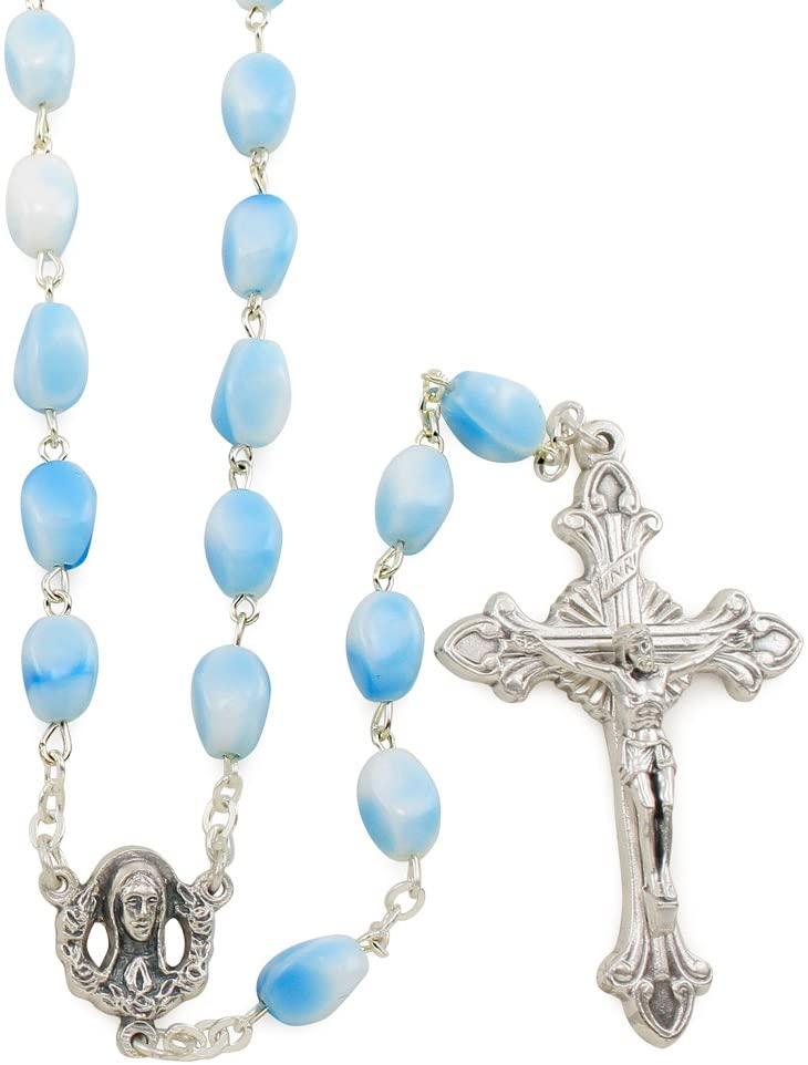Sky Blue Beads Rosary